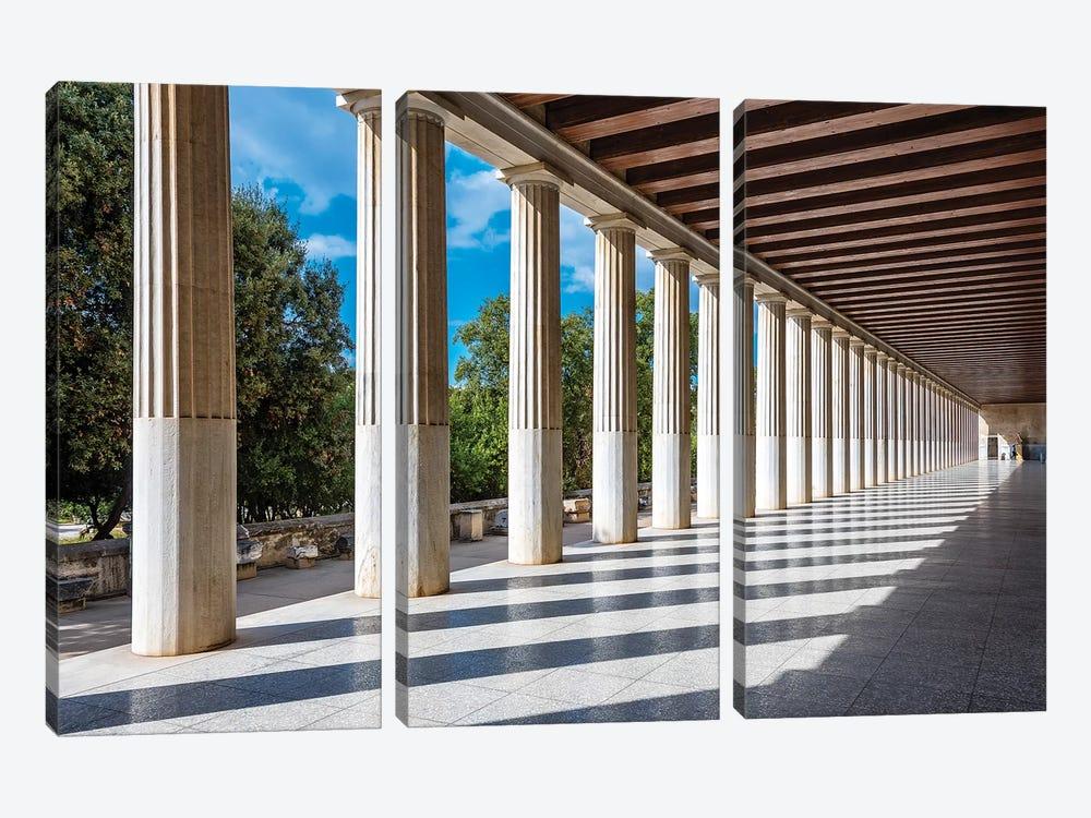 Athens, Greece III by Nejdet Duzen 3-piece Canvas Artwork