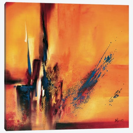 Abstract Impressions L 3-Piece Canvas #NEL1} by Nelly Geurts Canvas Print