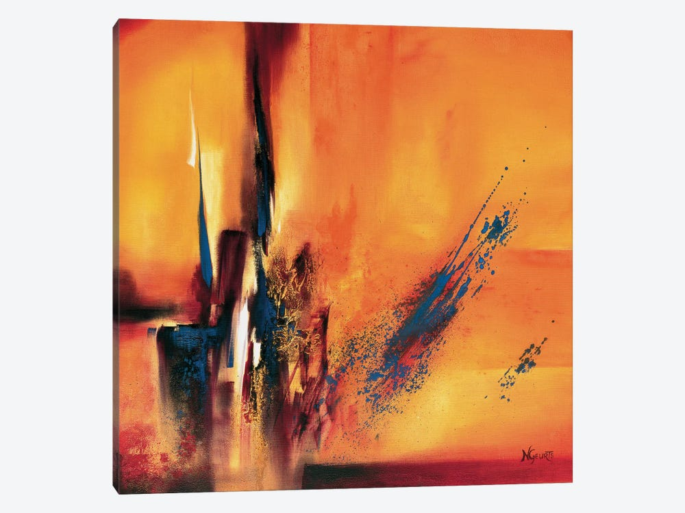 Abstract Impressions L by Nelly Geurts 1-piece Canvas Print