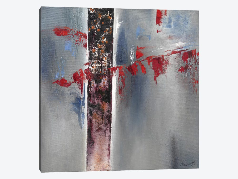 Red Splash I by Nelly Geurts 1-piece Canvas Print
