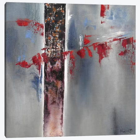 Red Splash I Canvas Print #NEL7} by Nelly Geurts Canvas Art