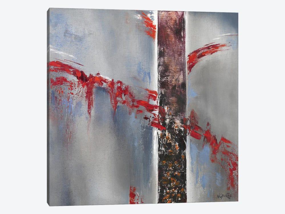 Red Splash II by Nelly Geurts 1-piece Canvas Art