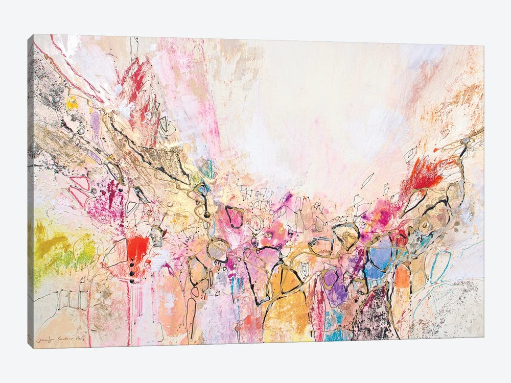 White Series XII by Jennifer Gardner 1-piece Canvas Wall Art
