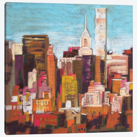 City Color III Canvas Print #NER28} by Jennifer Gardner Canvas Artwork