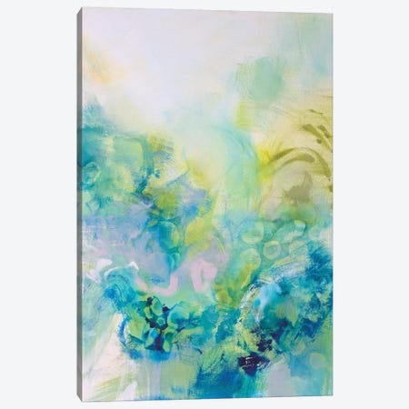 Turquoise Flow I Canvas Print #NER31} by Jennifer Gardner Canvas Print