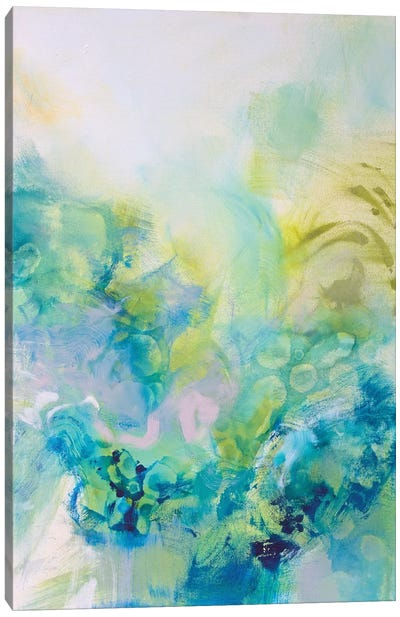 Turquoise Flow I Canvas Art Print