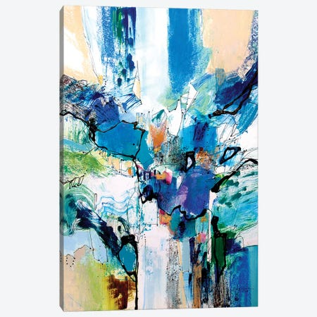 Blue and Green II Canvas Print #NER35} by Jennifer Gardner Canvas Art