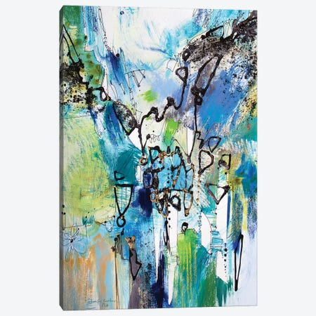 Blue and Green III Canvas Print #NER36} by Jennifer Gardner Canvas Artwork