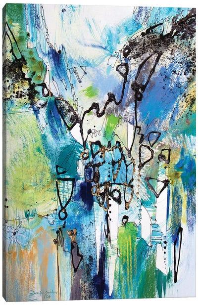 Blue and Green III Canvas Art Print