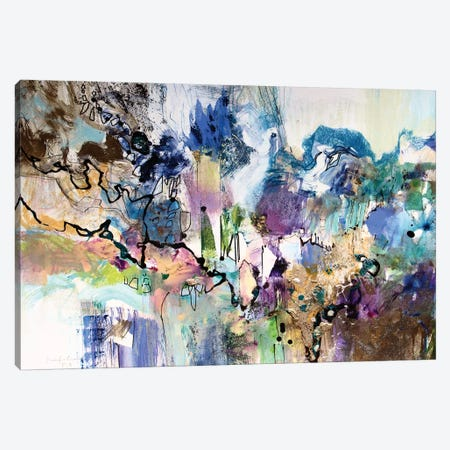 Rainbow Blue I Canvas Print #NER37} by Jennifer Gardner Canvas Artwork