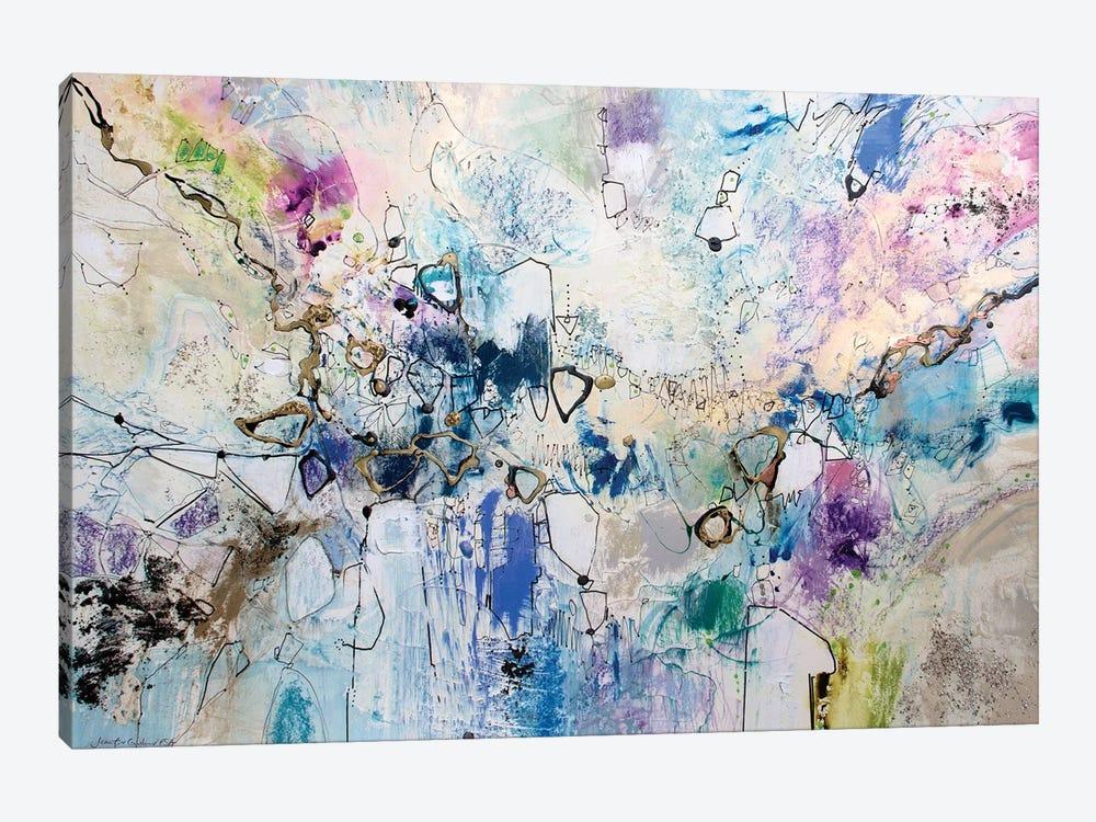 Rainbow Blue III by Jennifer Gardner 1-piece Canvas Art Print