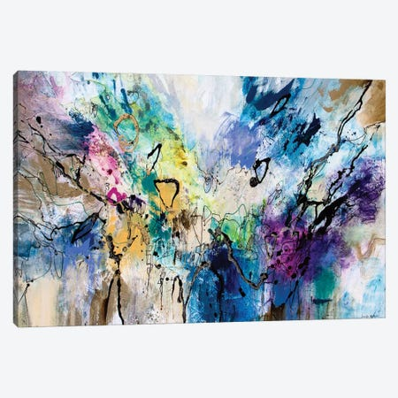 Rainbow Blue V Canvas Print #NER41} by Jennifer Gardner Canvas Wall Art