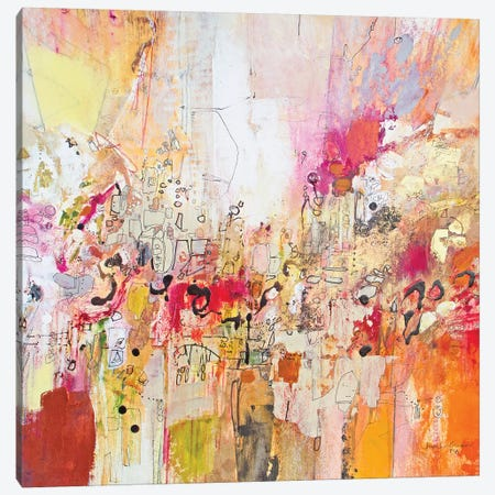 Red, White & Gold I Canvas Print #NER48} by Jennifer Gardner Canvas Wall Art