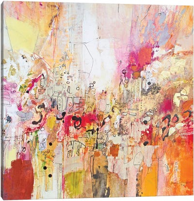 Red, White & Gold I Canvas Art Print
