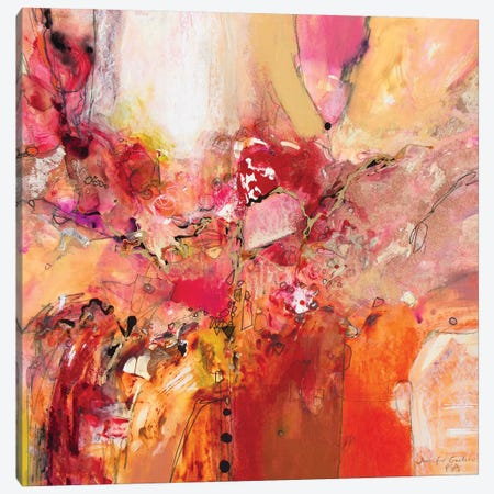 Red, White & Gold IV Canvas Print #NER51} by Jennifer Gardner Art Print