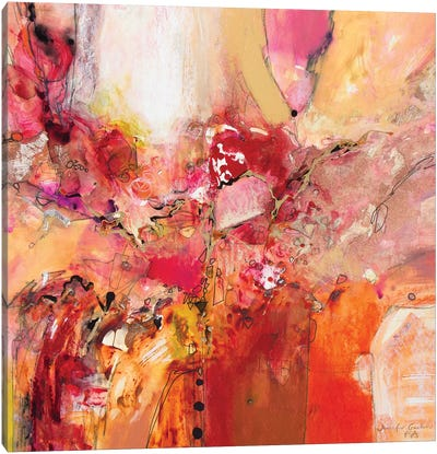 Red, White & Gold IV Canvas Art Print