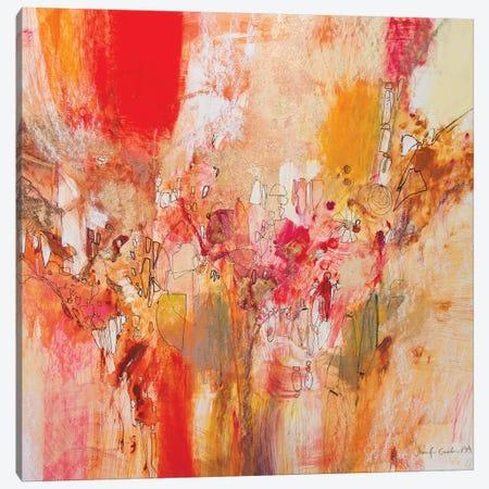Red, White & Gold V Canvas Print #NER52} by Jennifer Gardner Art Print