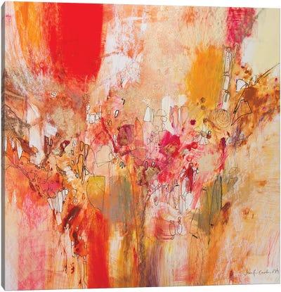 Red, White & Gold V Canvas Art Print