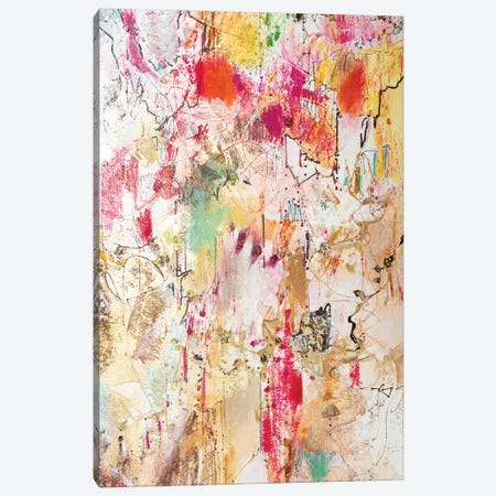 Vertical Reds II Canvas Print #NER54} by Jennifer Gardner Canvas Artwork