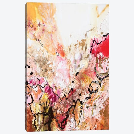 Vertical Reds III Canvas Print #NER55} by Jennifer Gardner Canvas Artwork