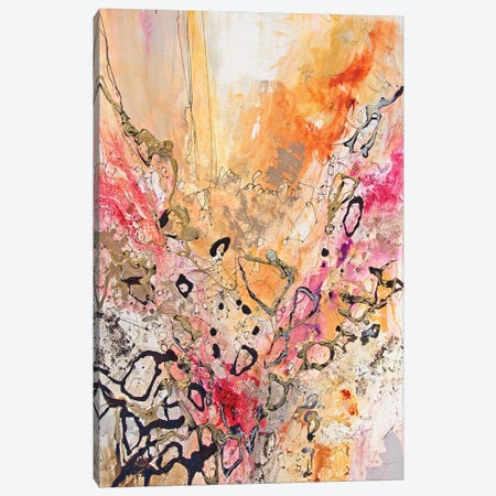 Vertical Reds IV Canvas Print #NER56} by Jennifer Gardner Canvas Art