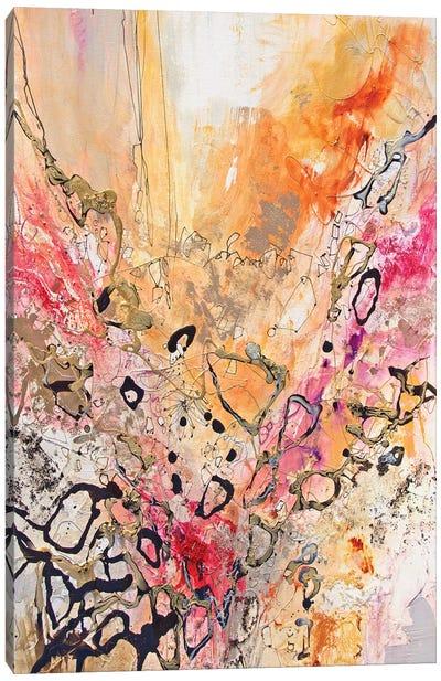 Vertical Reds IV Canvas Art Print
