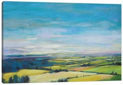 Patchwork Fields Canvas Art Print