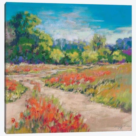 Poppy Path Canvas Print #NER67} by Jennifer Gardner Canvas Print