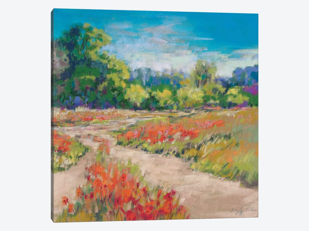 Poppy Path by Jennifer Gardner 1-piece Canvas Wall Art