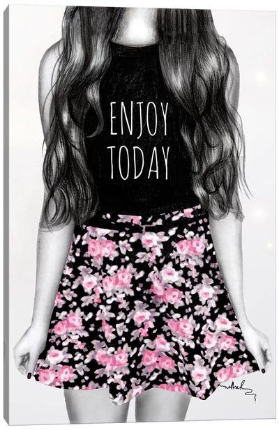 Enjoy Today Canvas Print #NET13