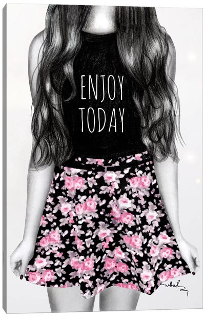 Enjoy Today Canvas Art Print