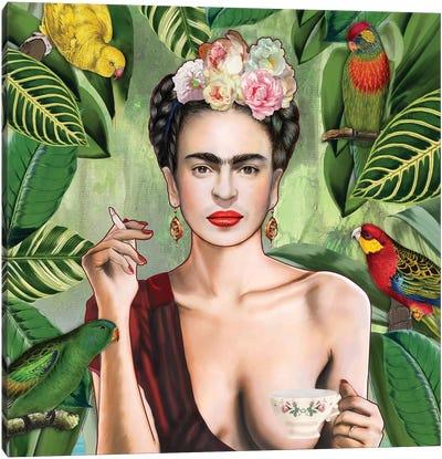 Frida Con Amigos Canvas Print #NET16