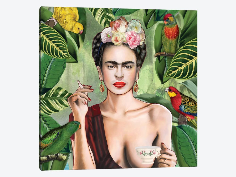 Frida Con Amigos by Nettsch 1-piece Canvas Wall Art