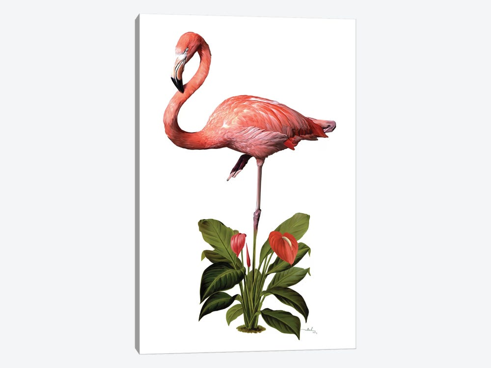 Frollein Flamingo by Nettsch 1-piece Art Print