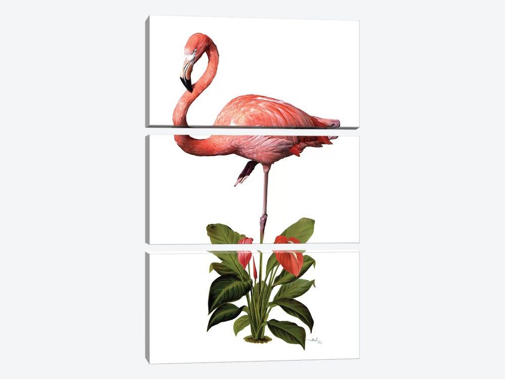 Frollein Flamingo by Nettsch 3-piece Art Print