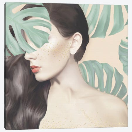Monstera Suara Canvas Print #NET23} by Nettsch Canvas Artwork