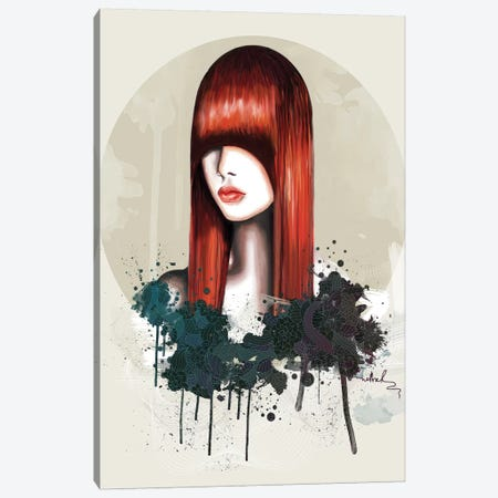 Redhead Canvas Print #NET28} by Nettsch Canvas Artwork