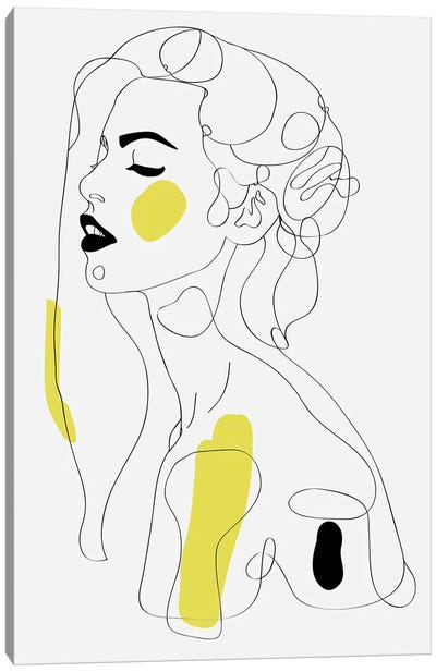 One Line Girl II Canvas Art Print