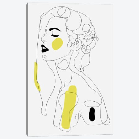 One Line Girl II Canvas Print #NET49} by Nettsch Canvas Art