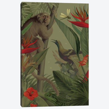 Welcome To The Jungle Canvas Print #NET54} by Nettsch Canvas Wall Art