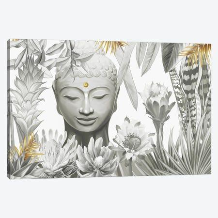 Buddha 3-Piece Canvas #NET67} by Nettsch Canvas Print