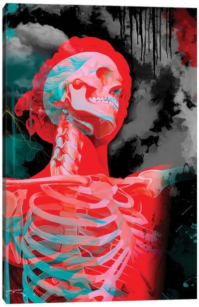Statue, Double Exposure Canvas Art Print