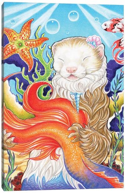 Ferret Mermaid Canvas Art Print