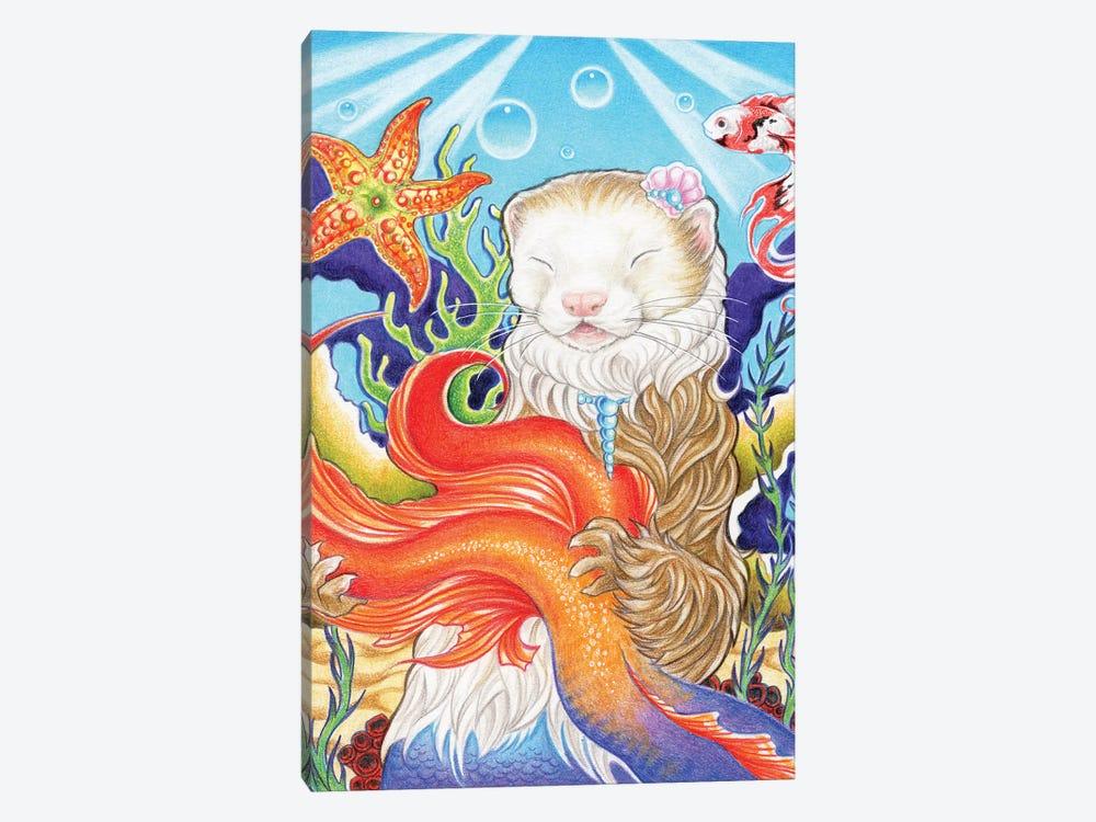 Ferret Mermaid by Natalie Ewert 1-piece Canvas Artwork