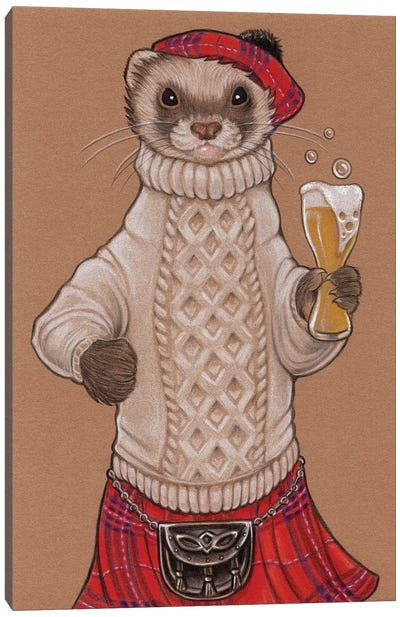 Ferret Scotsman Canvas Art Print