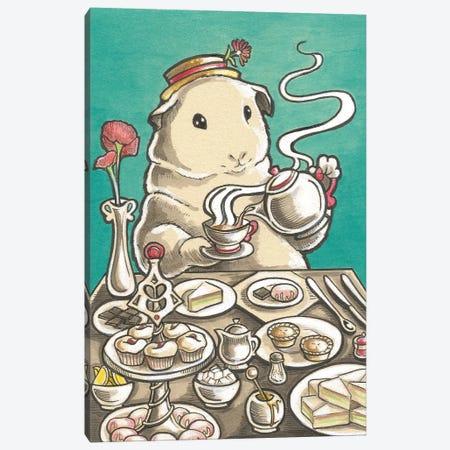 Guinea Pig High Tea Canvas Print #NEW16} by Natalie Ewert Art Print