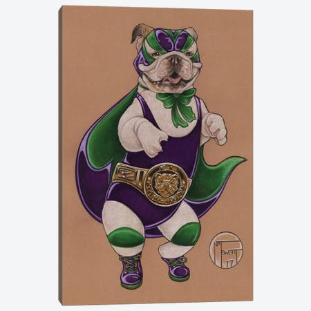 Lucha Label Canvas Print #NEW19} by Natalie Ewert Canvas Artwork