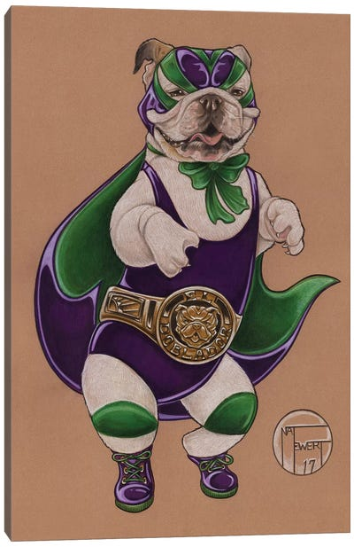 Lucha Label Canvas Art Print