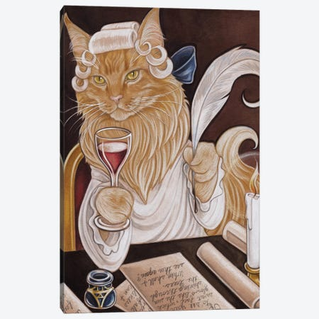 Cat Casanova Canvas Print #NEW1} by Natalie Ewert Art Print