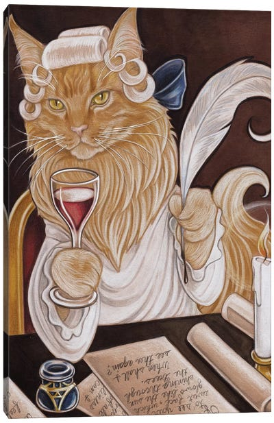 Cat Casanova Canvas Art Print